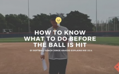 Fastpitch Softball Fielding Drills: How To Know What Do Before The Ball Is Hit