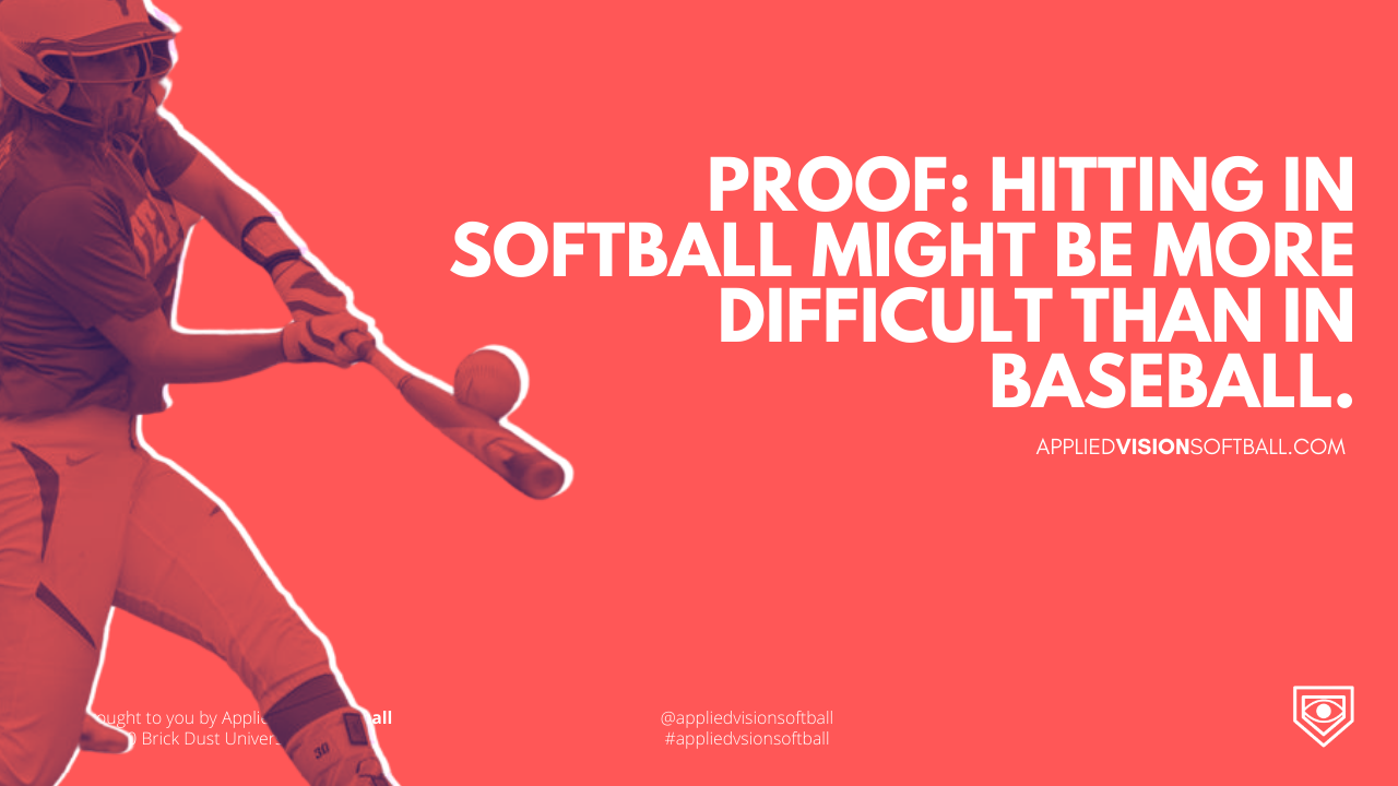 Proof: Hitting in Softball Might Be More Difficult Than In Baseball.